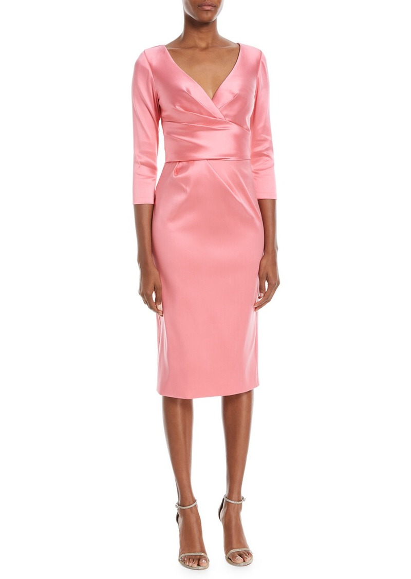 Theia Theia Super Stretch Deep V-Neck Cocktail Dress | Dresses ...