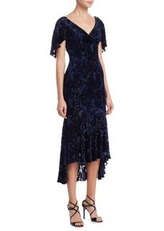 Theia Velvet Midi Dress