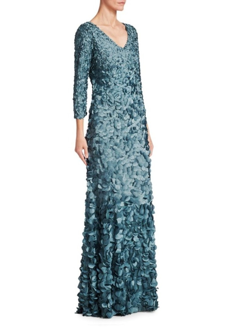 On Sale today! Theia V-Neck Petal Gown