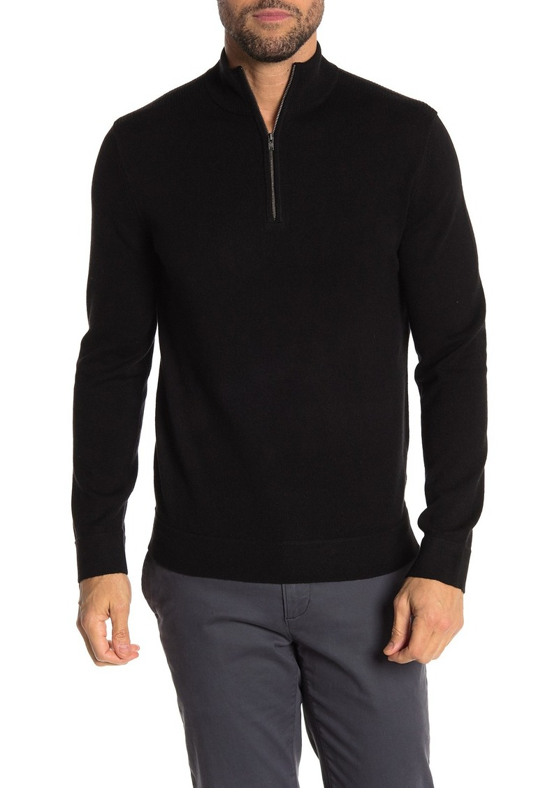 Theory 1/4 Zip Cashmere Sweater