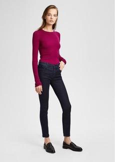 J Brand 811 Mid-Rise Pintuck Skinny Jean