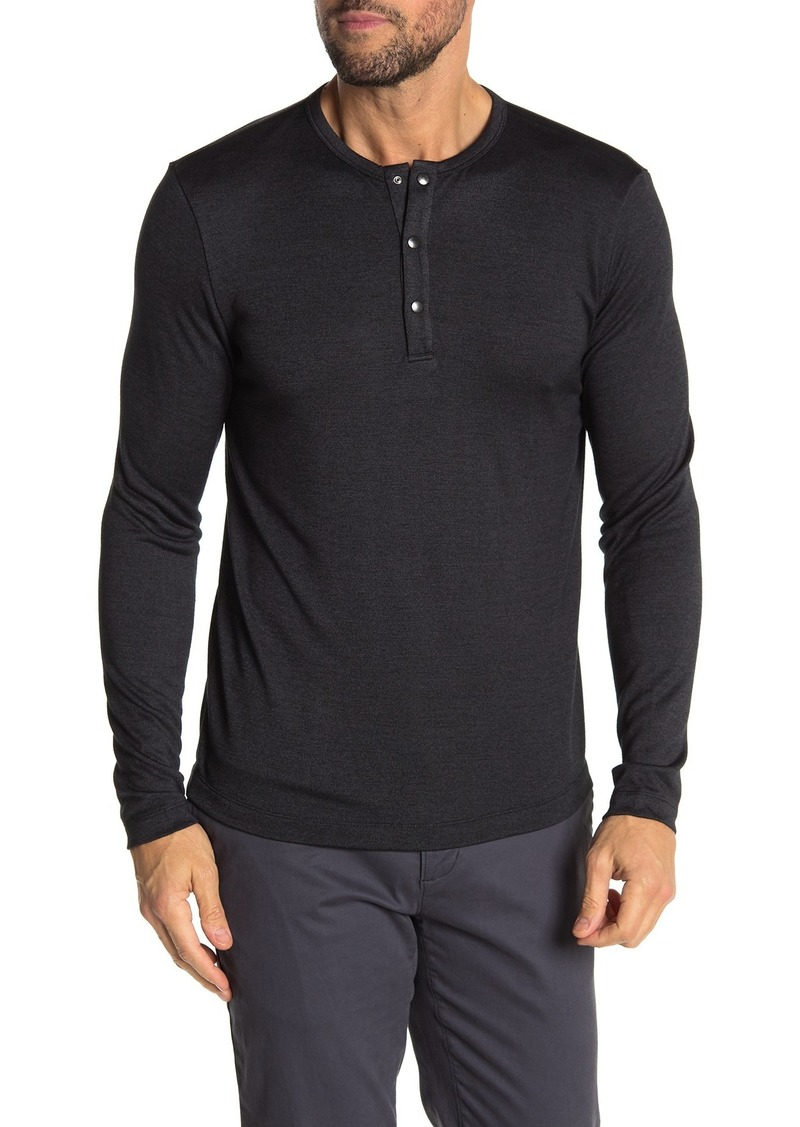 Theory Activate Jersey Snap Henley