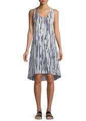 Theory Adlerdale Broken-Stripe Silk Twill Dress
