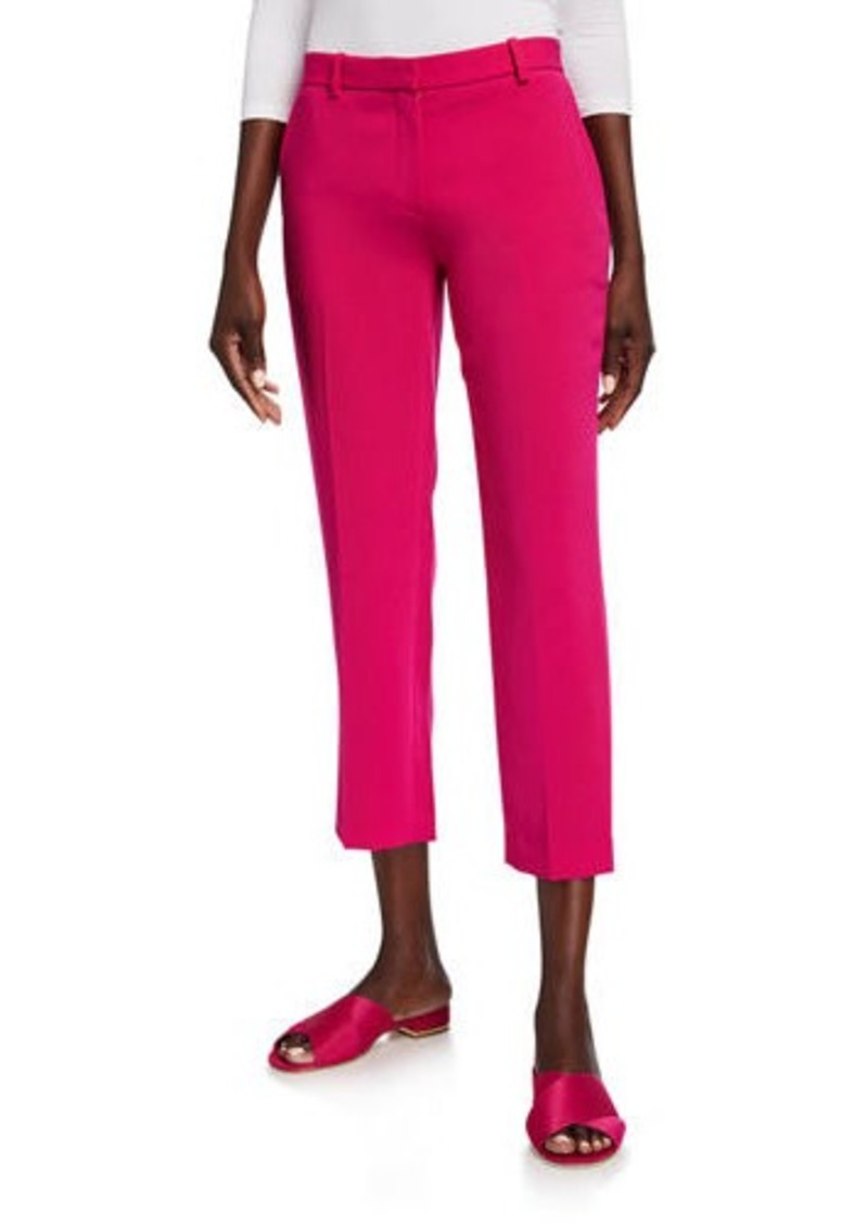 Theory Admiral Crepe Tailored Cropped Trousers