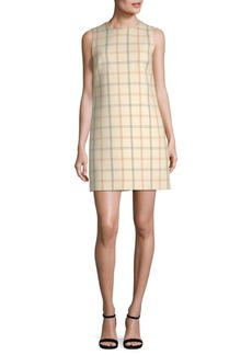 Theory Adraya NB Checkered Wool Shift Dress
