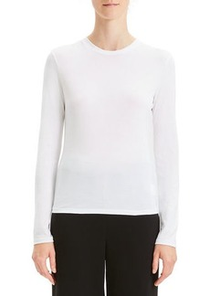 Theory Apex Long-Sleeve Crewneck Tiny Tee