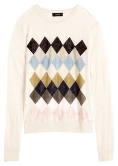 Theory Argyle Print Sweater