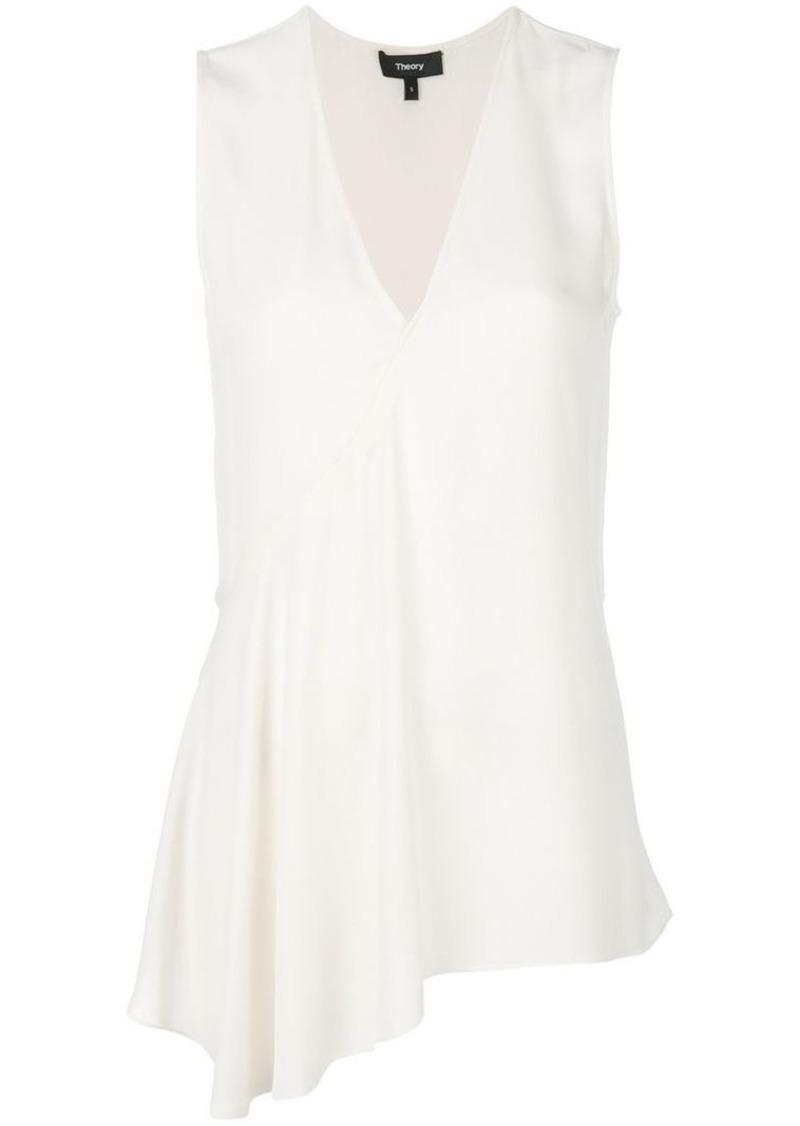 Theory asymmetric ruffle blouse