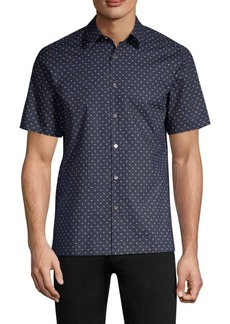 Theory Bar Print Button-Down Shirt