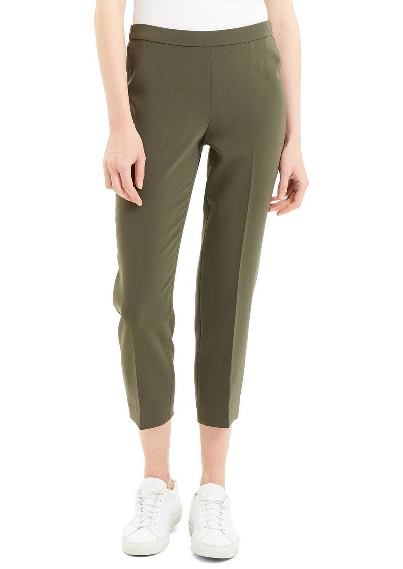 Theory Basic Cropped Crepe Pull-On Pants
