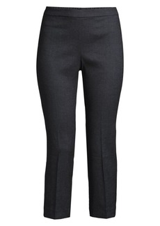 Theory Basic Linen-Blend Pull-On Pants