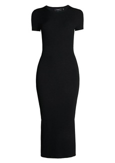 Theory Basic Midi Sheath Dress
