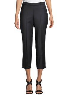 Theory Basic Pull-On Sleek Flannel Pants