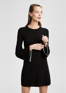 Theory Bell-Sleeve Mini Dress