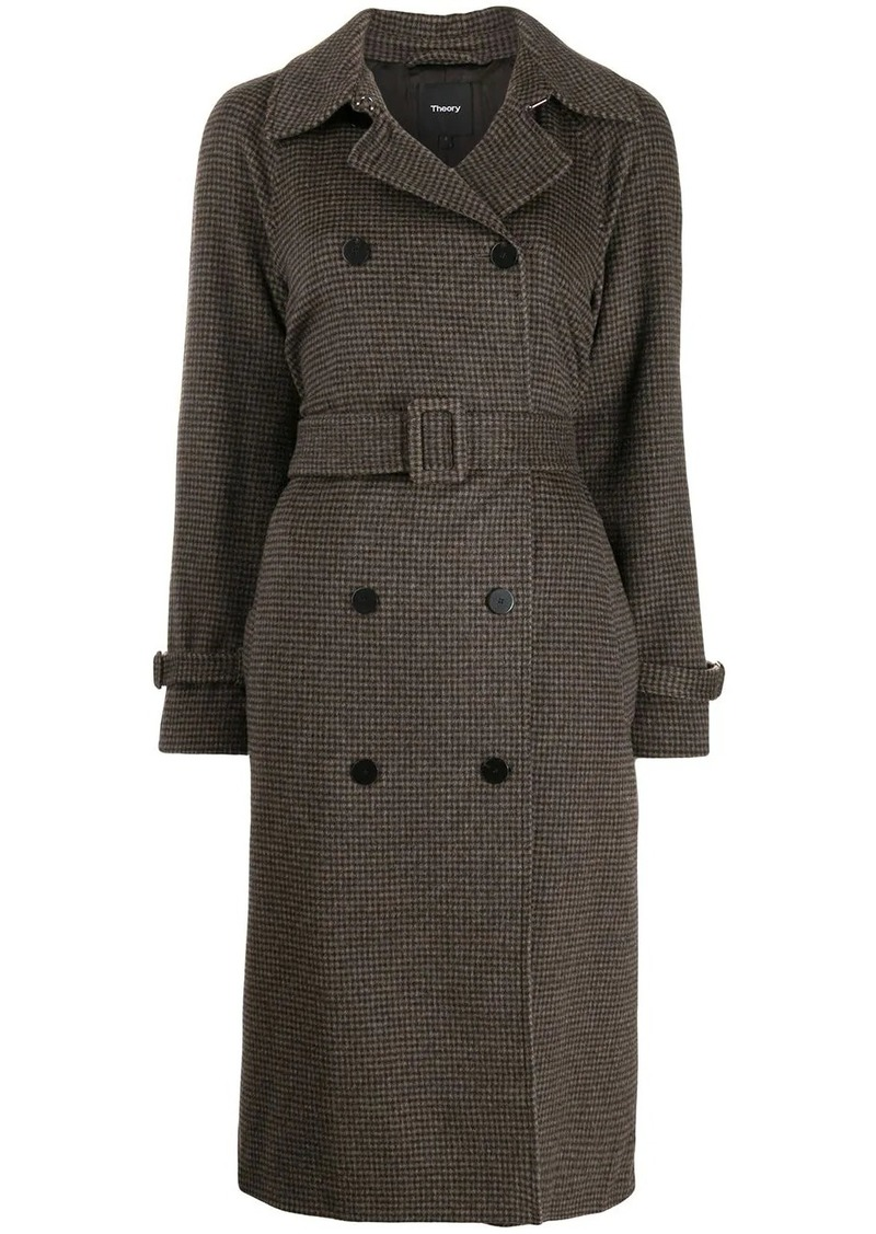 Theory belted double-breasted coat