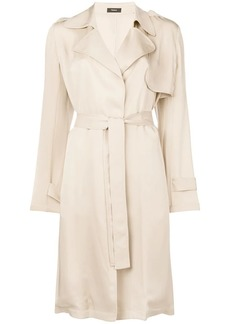Theory belted midi trench coat