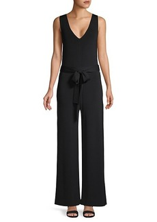 Theory Belted Sleeveless Jumpsuit