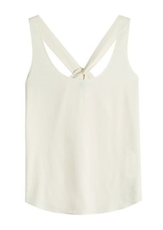 Theory Bintilra Sleeveless Top with Knotted Back