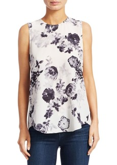 Theory Bringham Sleeveless Floral Top