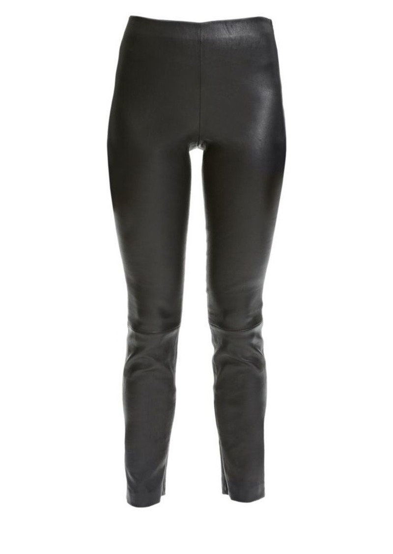 Theory Bristol Leather Leggings