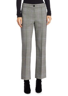 Theory Cardinal Plaid Trousers
