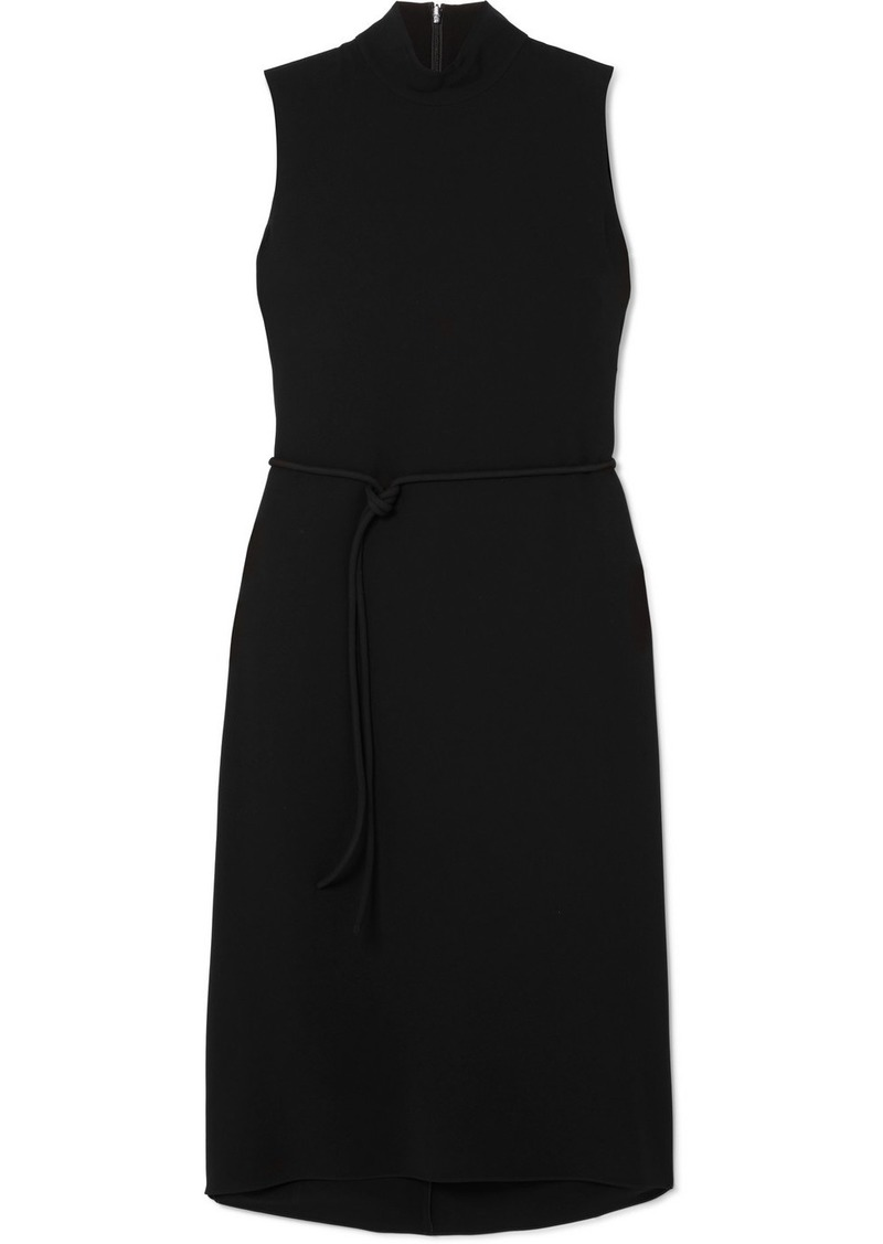 Theory Cascade Belted Cady Dress