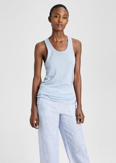 Theory Cashmere Double-Trim Tank
