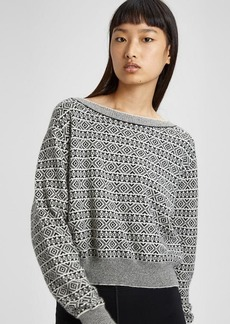 Cashmere Fair Isle Boatneck Sweater
