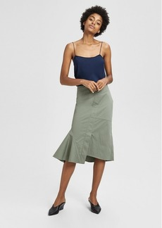 Theory Casual Twill Reconstructed Midi Skirt