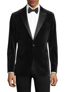 Theory Chambers Point-Lapel Velvet Jacket