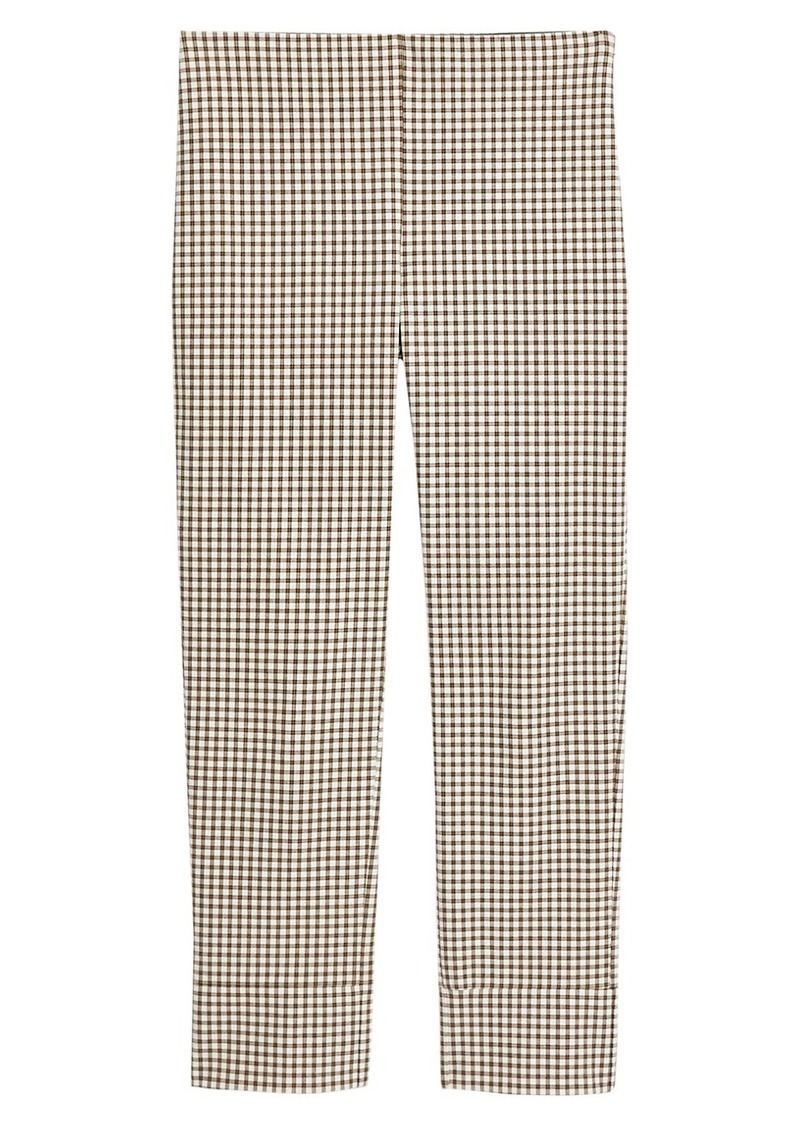 Theory Check Cropped Skinny Pants