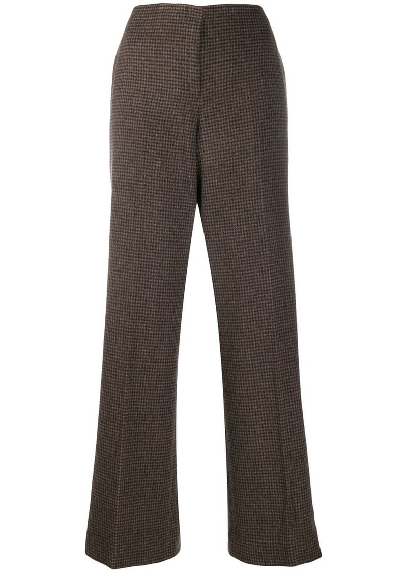 Theory check print trousers