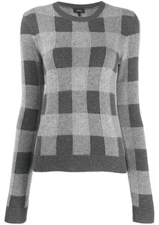 Theory checked cashmere jumper