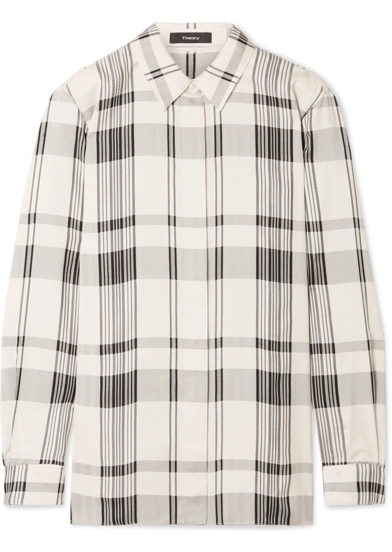 Theory Checked Jacquard Shirt