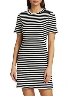 Theory Cherry Stripe T-Shirt Dress