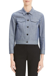 Theory Chintz Denim Shrunken Jacket