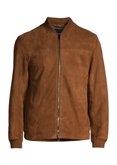 Theory City Bomber Grande Suede Jacket