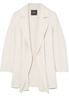 Theory Clairene Brushed Wool And Cashmere-blend Coat