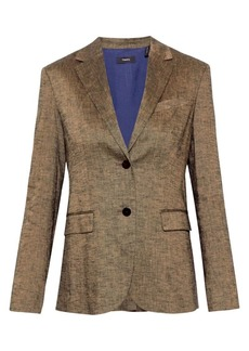 Theory Textured Linen Classic Blazer
