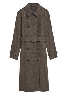Theory Classic Check Trench Coat
