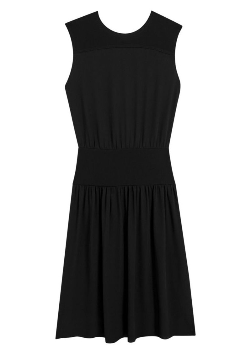 Theory Classic Sleeveless A-Line Blouson Dress