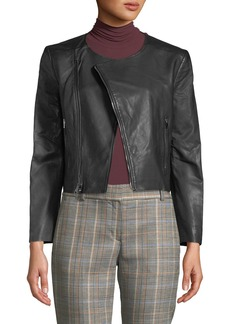 Theory Clean Leather Moto Jacket