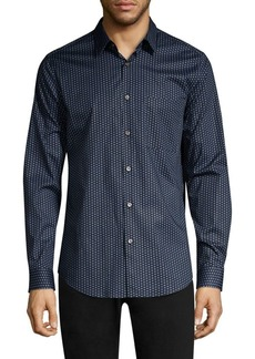 Theory Connel Print Cotton Shirt