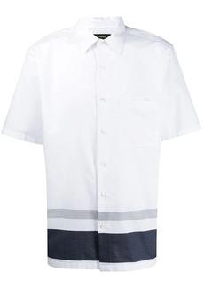 Theory contrasting band short-sleeve shirt