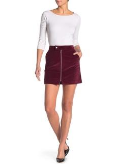 Theory Corduroy Front Zip Mini Skirt