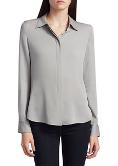 Theory Core Silk Button-Down Shirt