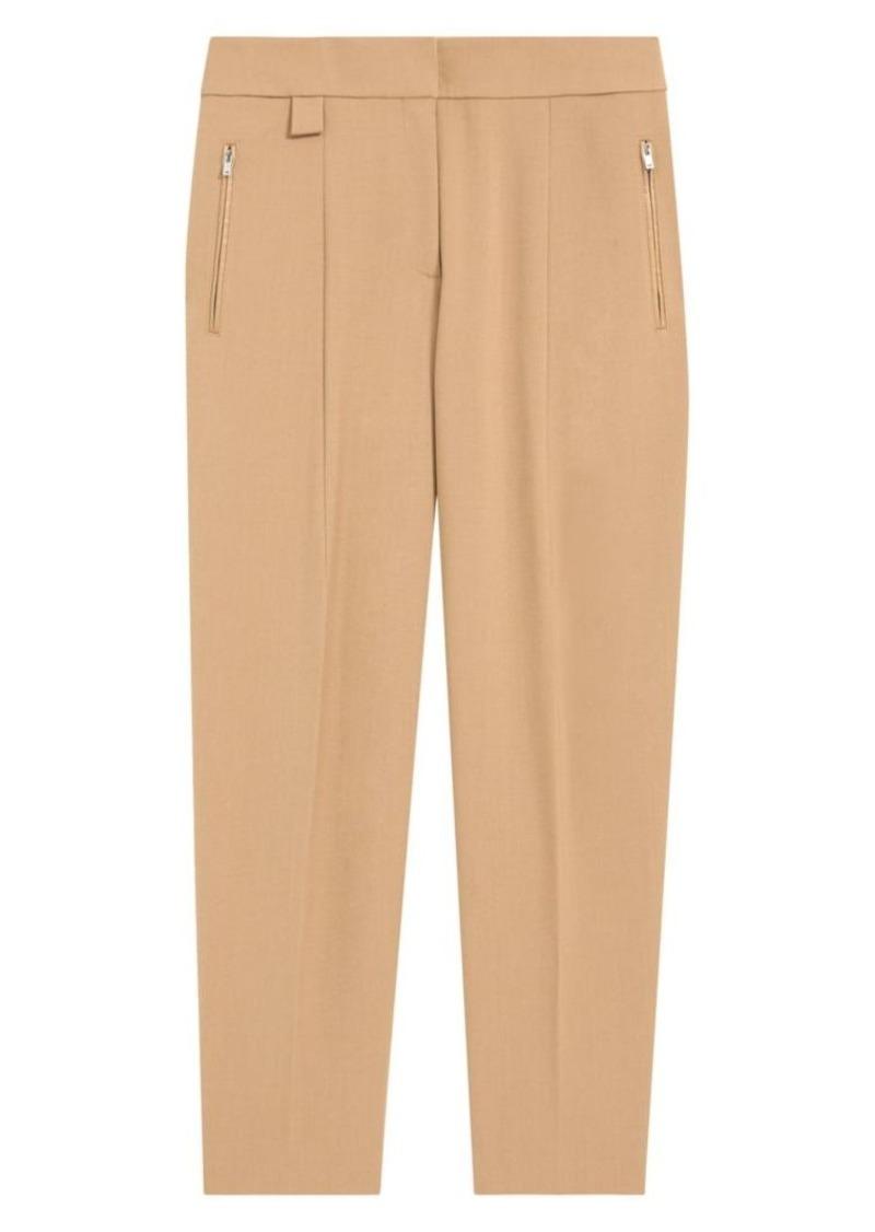 Theory Core Wool Blend Carrot Pants
