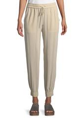 Theory Cortlandt Summer Silk Jogger Pants