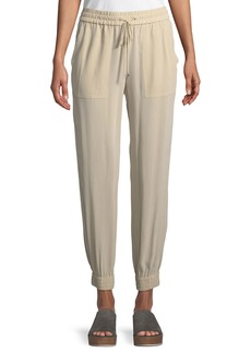 Theory Cortlandt Summer Silk Jogger Pants