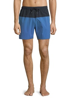 Theory Cosmos Colorblock Swim Trunks